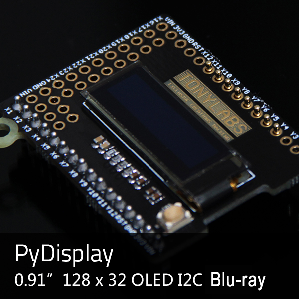 PyMono OLED 12832 Display for Python Board PyBoard 0.91 inch 128*32 I2C Compatible With PyDisplay Module Screen Diy Kit