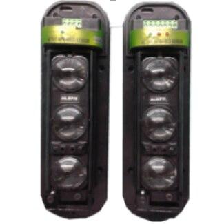 Détecteur d'intrusion infrarouge actif de capteur de trois 3 faisceaux barrière de mur de fenêtre de sécurité alarme IR de mouvement extérieure de 250 M
