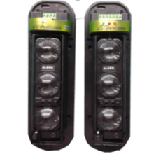 Drei 3 Strahl Sensor Aktive Intrusion Detector sicherheit fenster wand barriere outdoor 250 Mt bewegung IR alarm
