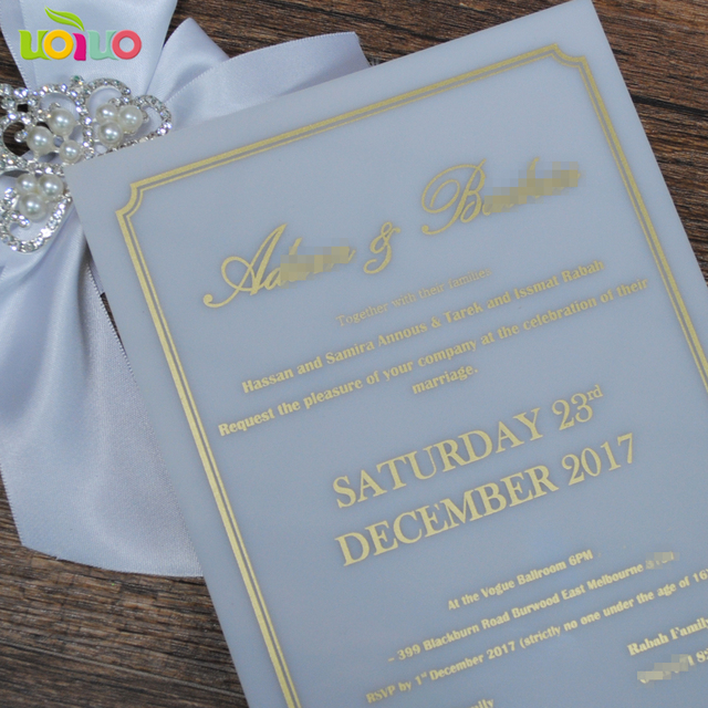 2018 hot printed wedding souvenirs decorations white Acrylic