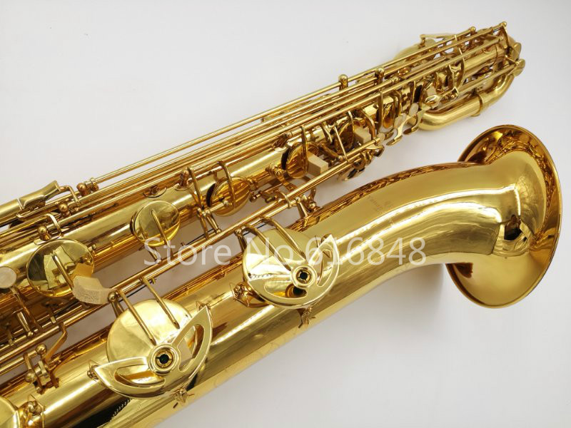 New Arrival YANAGISAWA B-901 Baritone Brass Saxophone Gold Plated Surface Brand Sax Musical Instrument With Mouthpiece And Case jazzor jbep 1142 professional euphonium b flat gold lacquer brass wind instrument with mouthpiece and case