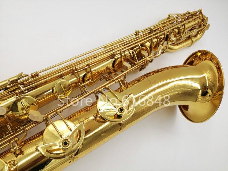 Nuovo Arrivo YANAGISAWA B-901 In Ottone Baritono Sassofono Placcato Oro Superficie di Marca Strumento Musicale Sax Con Boccaglio E Caso