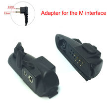 Walkie talkie Audio Adapter For Baofeng BF-9700 BF-A58 BF-UV9R Adapter For M Interface 2Pin Headset Port Accessories