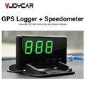 GPS del coche Hud Head Up Display GPS Logger Registrador de Datos Kilometraje Velocímetro Sobre Alarma de la Velocidad Total de la Ayuda 32G SD tarjeta