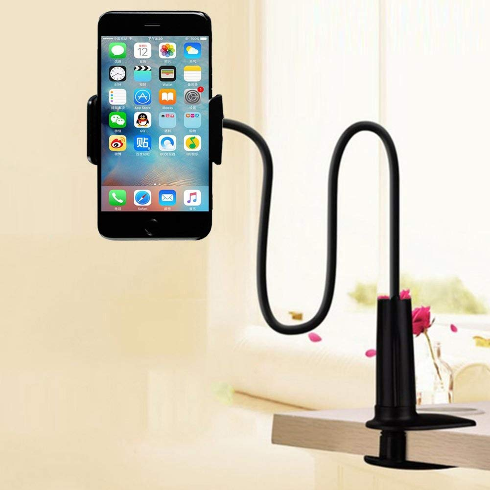 Universal Long Arm Desktop Phone Holder Flexible Lazy Mount Bracket Stand For iPhone Xs X 8 Samsung S10 360 Degree Mount Holder in Phone Holders Stands from Cellphones Telecommunications