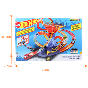 Image 3 - Hot Wheels Pista de coches eléctricos de ciudad para niños, Volcán de Escape, juguete de desafío, juego de coches para niños, Oyuncak Araba FTD61