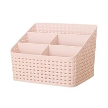 Imitation rattan plaited cosmetics storage box dressing table cats and dogs remoter stationary carry plastic collecting box(China)