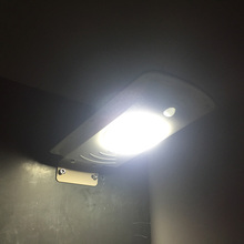 6W LED Solar Street Lamp All In One Yard Light Cold White Motion Sensor IP65 Waterproof Garden Path Road Outdoor Lighting