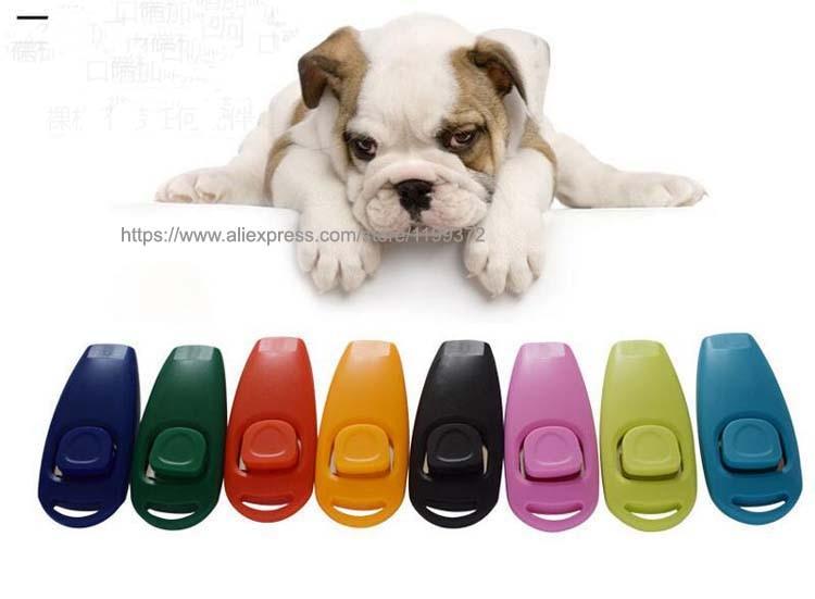 500 шт собака клик тренажер свисток для обучения собак и свисток комбинированный Отпугиватель помощь брелок ремешок