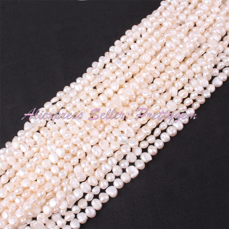 5 7mm Irregular Freshwater Pearl Beads Natural Stone Beads For DIY Necklace Jewelry Making 14 Wholesale 50 Strand Free Shipping