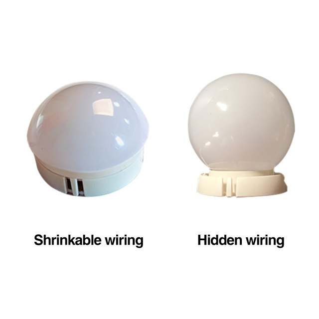 Makeup Mirror Vanity LED Light Bulbs Kit 10 Led Bulbs Cosmetic Make Up Mirrors Bulb Adjustable Brightness Mirror Dresser Lamp 2