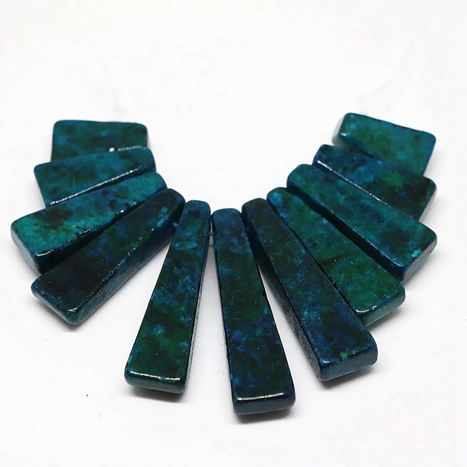 Tenture Africaine Grande Taille ᗚhigh grade blue green chrysocolla stone jasper 11 pieces
