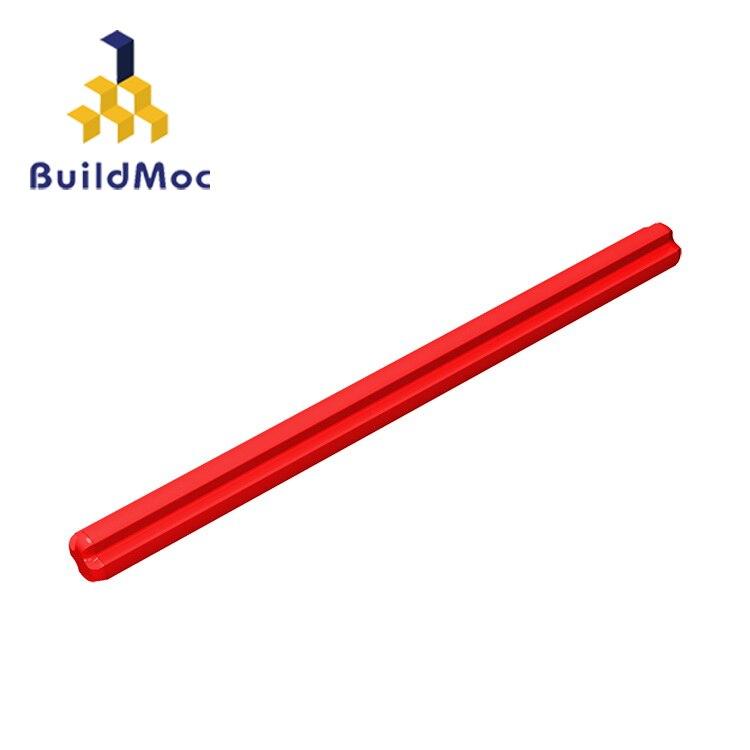 BuildMOC Compatible Assembles Particles 3707 1x8 For Building Blocks DIY LOGO Educational High-Tech Spare Toys