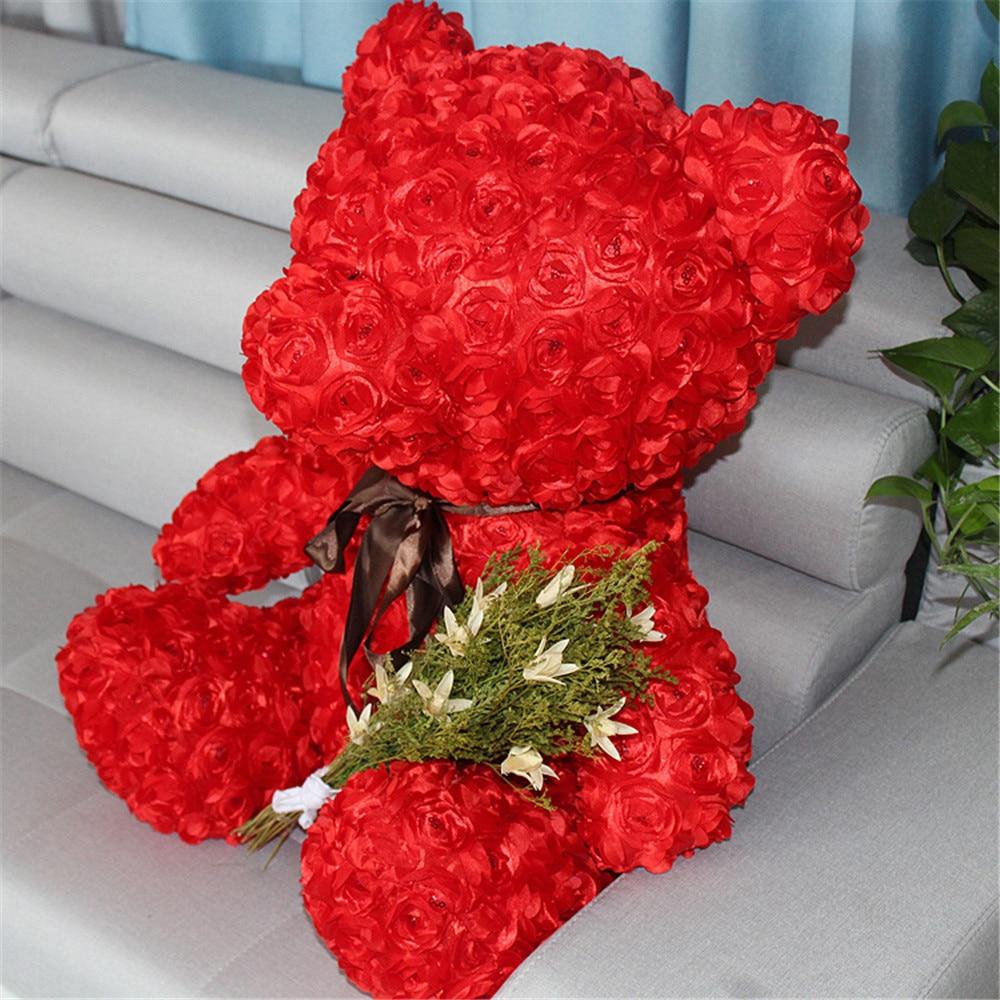 Fancytrader красная Роза плюшевый медведь игрушка хорошее качество большой медведь плюшевая кукла 70 см 28 дюймов для детей взрослые подарки - 2
