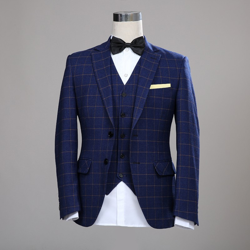 Mens Blue Check Suit | My Dress Tip