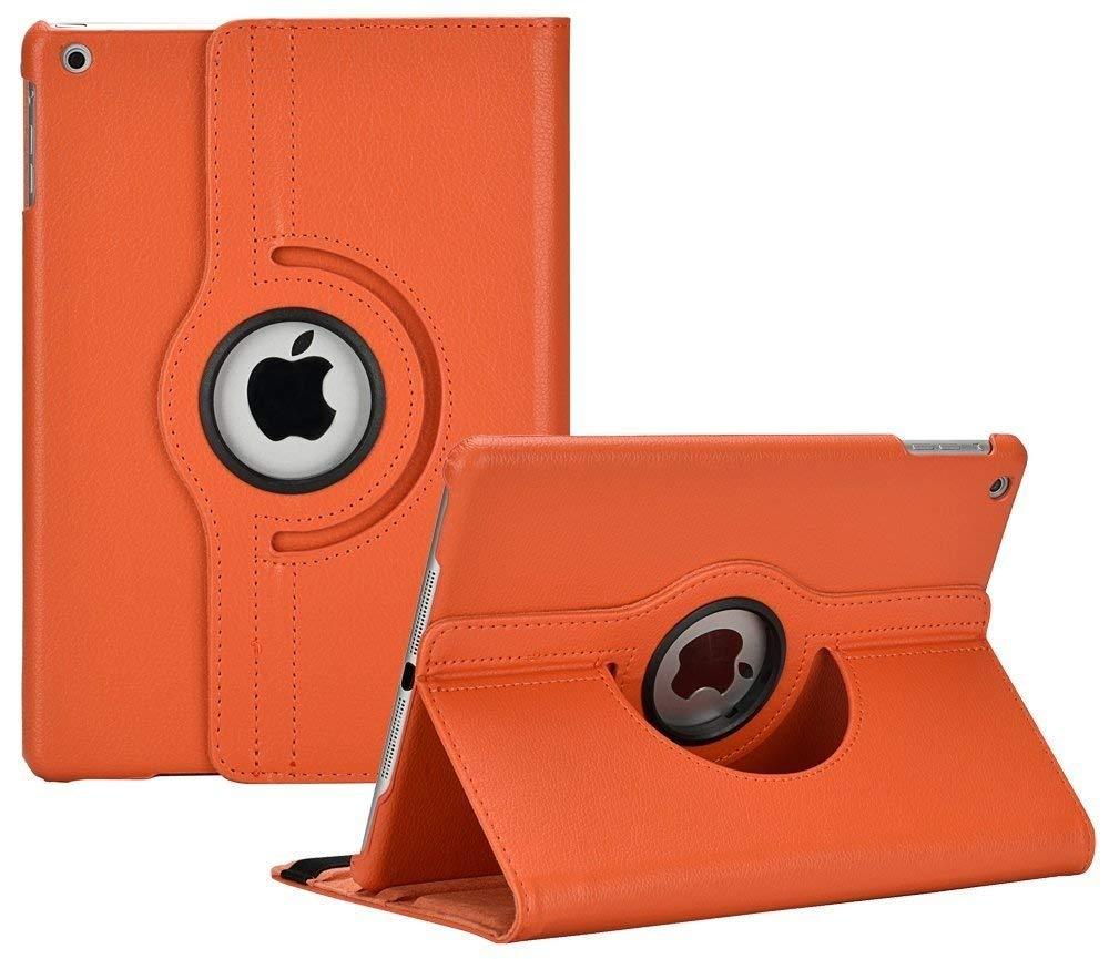 360 Degree Rotating PU Leather Stand Case Cover For Ipad Air 2 Magnetic Auto Wake Up/Sleep Smart Case For Ipad Air 2 A1567 A1566