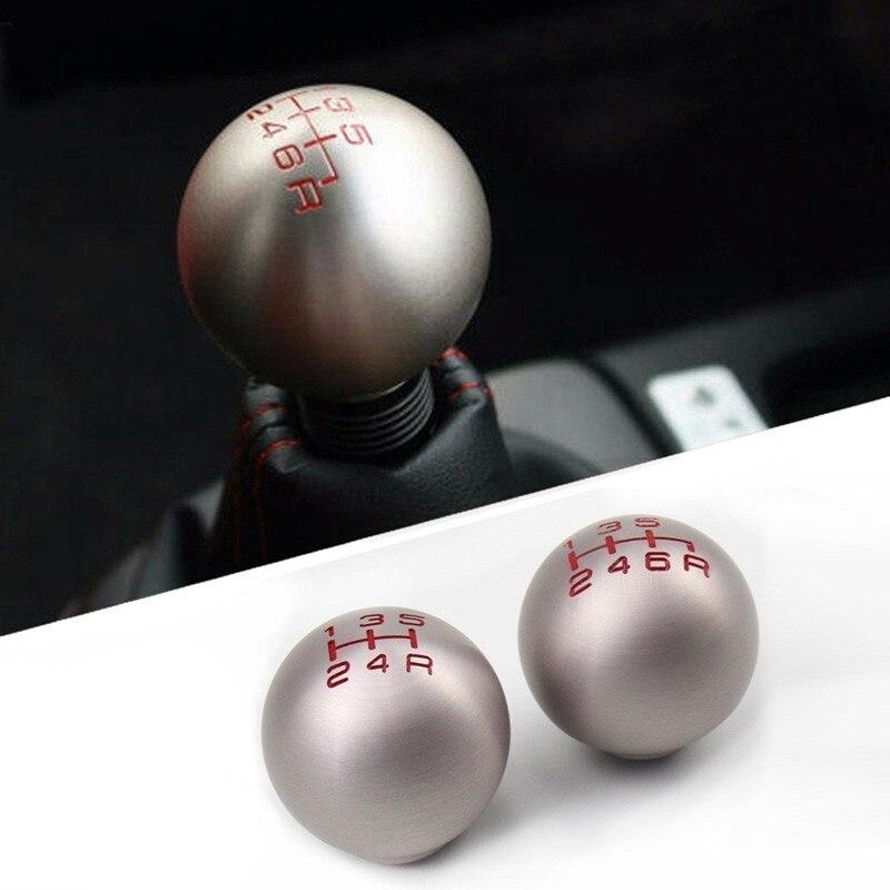 Alumínio 5/6 Speed M10X1.5 Type-R JDM Bola Forma Da Shift de Engrenagem Knob para Honad Civic Fit FD2 FN2 EP3 DC2 DC5 S2000 F20C