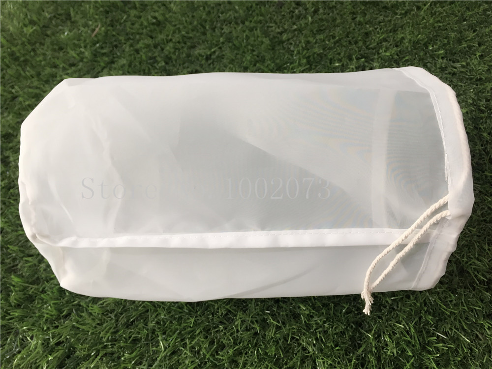Free Shiping 3045cm Large food grade Nylon filter bag for home brew beer rice wine juice soybean milk tea Coffee Filter Bag (2)