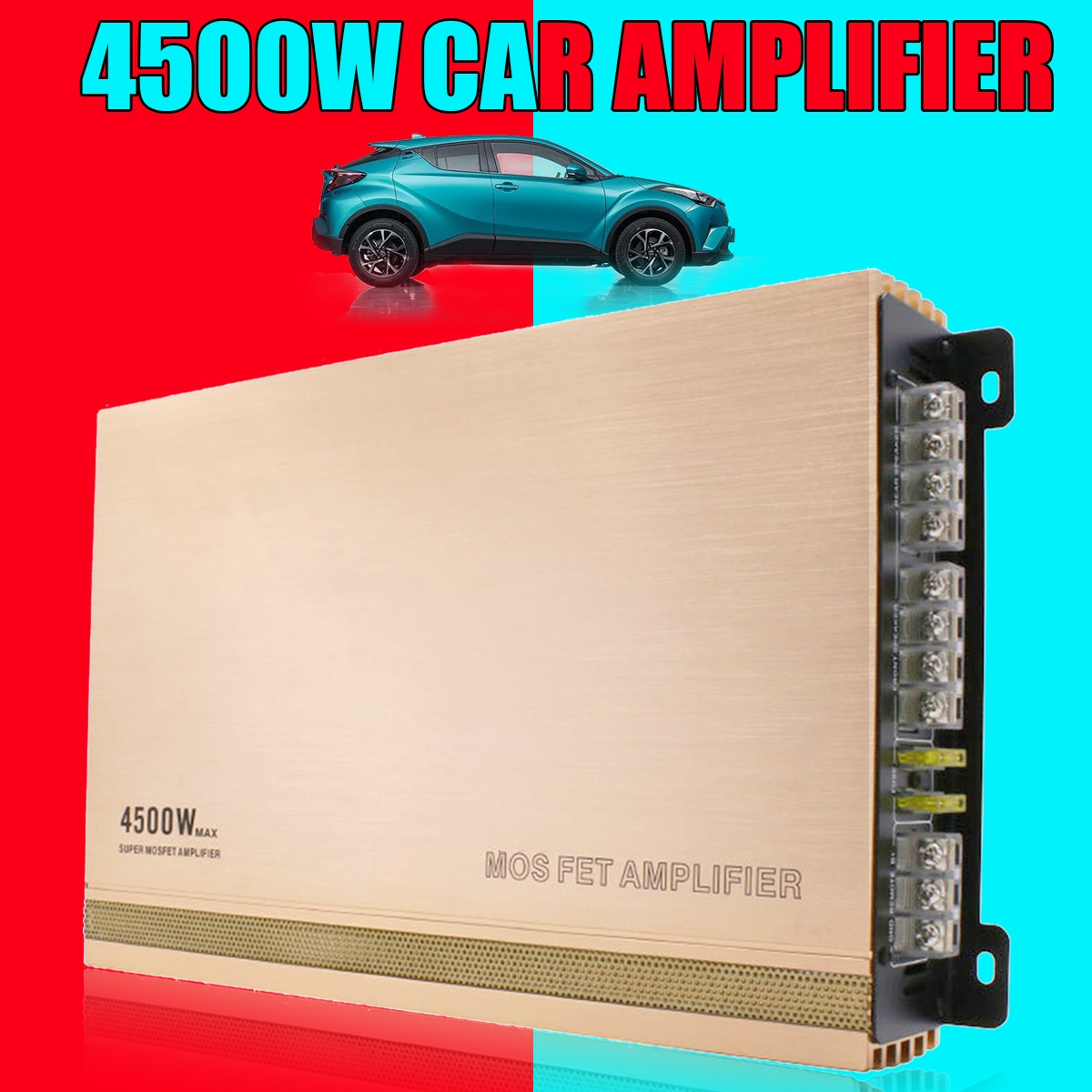 4500w High Power Aluminum Alloy Car Amplifier Speaker Portable Auto Stereo Player Audio Auto Sound Amplifier Subwoofer For Auto auto audio
