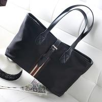 Fashion Women Shopping Shoulder Tote Bags Large Capacity Black Waterproof Oxford Casual Women Handbag Solid Big