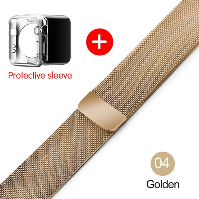 Milanese Loop Band for Apple watch 42mm 38mm Link Bracelet Strap Magnetic adjustable buckle with adapter for iwatch Series 4321