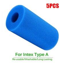 5pcs Swimming Pool 10cmx20cm Foam Filter Sponge Reusable for Intex Type A Washable Biofoam Cleaner Filter Foam Sponges Tools