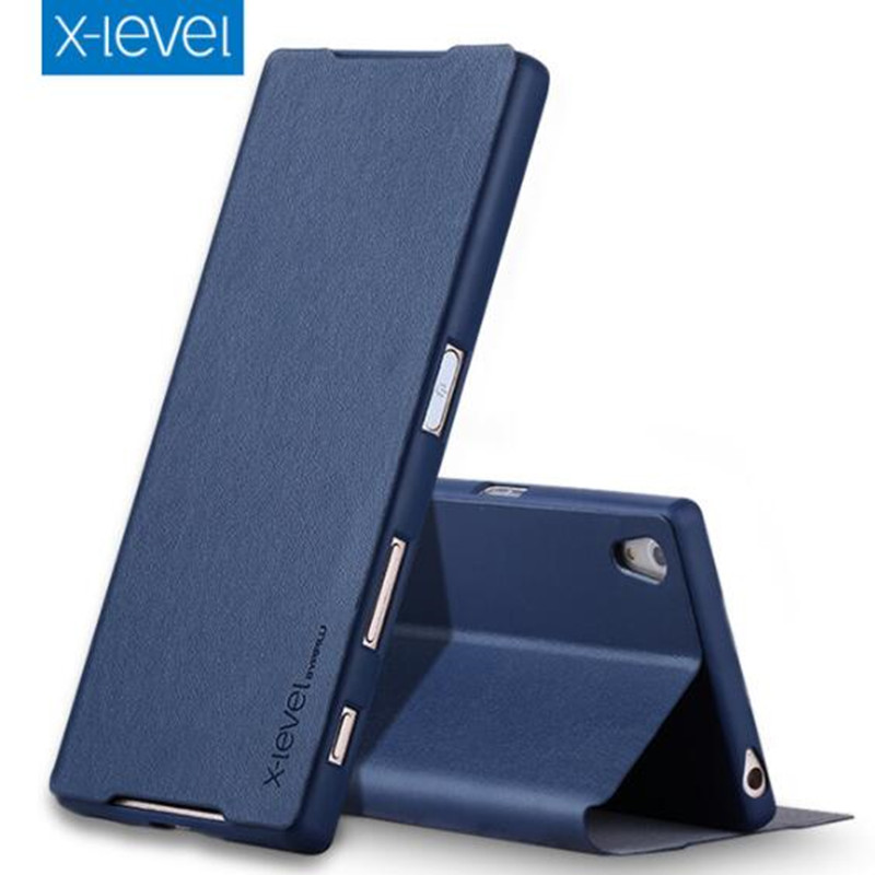 X-Level Phone-Case Flip-Stand-Cover Premium Sony Z5 Business For Ultra-Thin Luxury