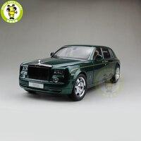 1/18 KYOSHO Rolls Royce Phantom Расширенная колесная база литья под давлением модель автомобиля подарок коллекция зеленый