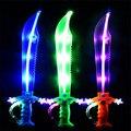 1 PCS luz música espada brinquedos para crianças faca luz Vocal espada sabre de luz melhor presente para as crianças