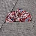 2017 Мода Пейсли Цветочные Шелковый Атлас Карманный Площадь Ханки Жаккарда мужская Платок Мужчины Свадьба Ткань Партии Аксессуары