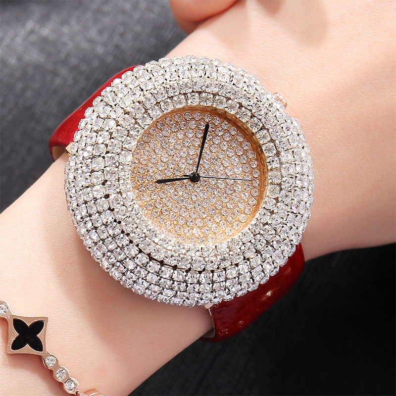 2018 Fashion Crystal Diamond Watch Womens Dress Luxury Top Brand Relogio Feminino Bling Ladies Quartz Wrist Watches Rhinestone amica luxury crystal diamond blue shell dial womens quartz watch ladies watch