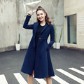 Qunitina 2017 New Fashion Trench Coat For Women Slim Long Style Full Sleeve Autumn Trench Coat Women