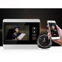 4 TFT WiFi Video Call GSM GPRS Peephole 1080P Camera Intercom System Doorbell Wireless Viewer Doorphone SMS Motion Alarm