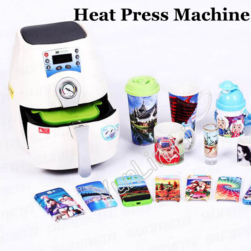 3D Mini Sublimation Vacuum Machine Heat Press Machine For Phone Case and Cover Mug Cups ST 1520