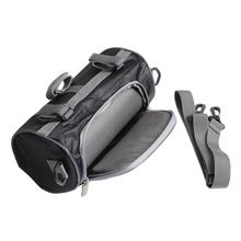 Motorcycle Front Handlebar Fork Storage Bag Container Fabric Waterproof Moto Zipper Package