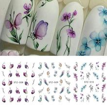 Hot Sell 1pcs Nail Sticker Butterfly Flower Water Transfer Decal Sliders for Nail Art Decoration Tattoo Manicure Wraps Tools  #2