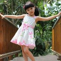 Baby Girl Dresses For Birthday Party 2017 Summer Flowers Suspender Girls Dress High Quality Polka Dot