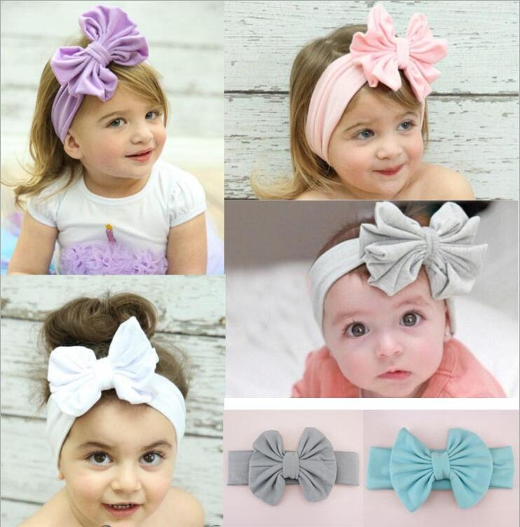 JRFSD 1PCS New Cute Fashion Dot Knot Headband Kids Cotton100% - Aksesori pakaian - Foto 1