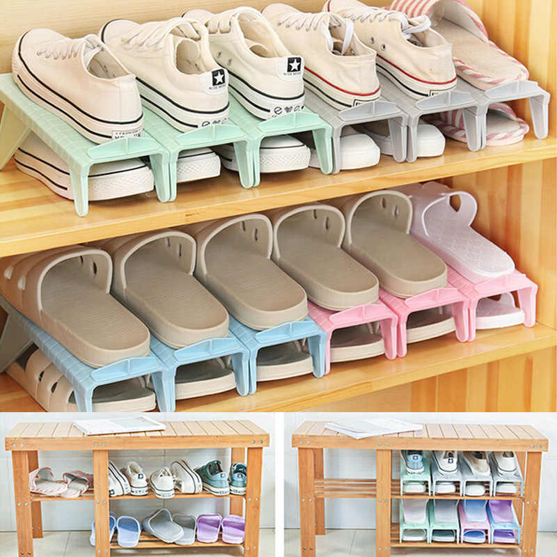 2018 Brand New Creative Plastic Shoes Rack Organizer Space Saving Storage Adjustable Durable Environmental