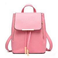 2017 Korean style Women Backpacks fashion student school Bags Teenagers PU learher Mochila Young Girls Backpacks Travel Bag