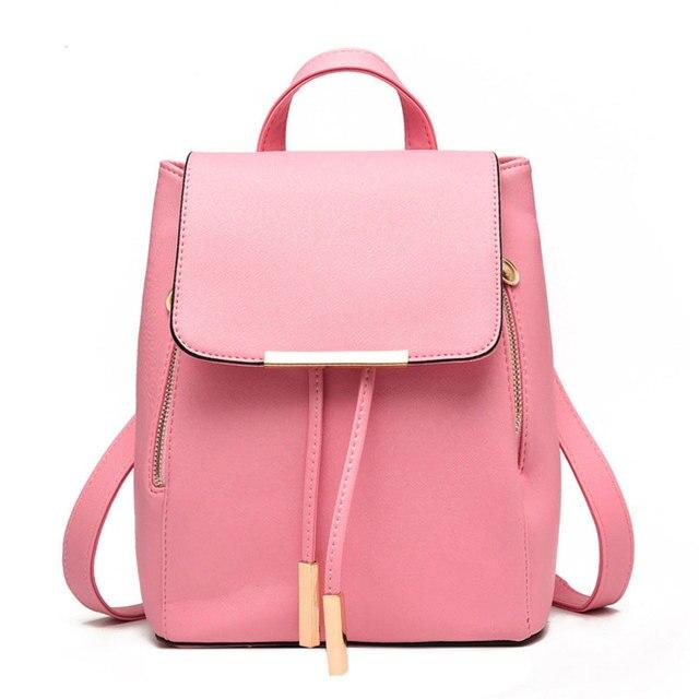 2018 Korean style Women Backpacks fashion student school Bags Teenagers PU  learher Mochila Young Girls Backpacks Travel Bag af6c8eb7e5