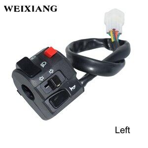 """Image 3 - 7/8 """"22mm Motorrad Motorrad Horn Taste Blinker Elektrische Nebel Lampe Licht Starten Lenker Controller Schalter"""