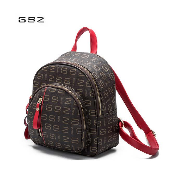 GSZ women's shoulder bag 2018 new pop mother package retro shell-shaped woman backpack brown free shipping globe shaped aluminum shell precise compass