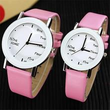 New Korean pop female students watch fashion Fashion lovers watches men women luxury brand English concise