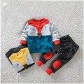 Новый 2017 Весна Осень девушки одежда наборы мультфильм Лиса детская одежда хлопка случайные костюмы детская одежда спортивный костюм
