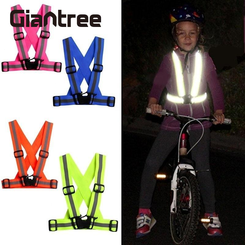 giantree New Kids Reflective Vest Children Cycling reflective tape Outdoor Running reflective fabric Safety Stripes safe Jacketgiantree New Kids Reflective Vest Children Cycling reflective tape Outdoor Running reflective fabric Safety Stripes safe Jacket
