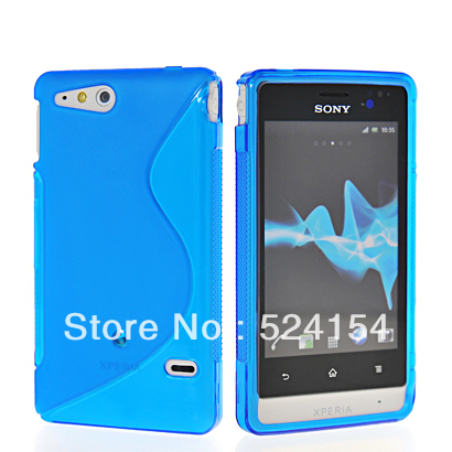 New Cellphone Soft Gel S Line TPU Silicone Skin Case Cover FOR SONY XPERIA GO ST27i free shipping  Wholesale or retail