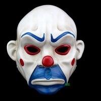Dành cho người lớn batman joker hề ngân hàng robber mặt nạ dark knight trang phục halloween masquerade đảng fancy mặt nạ nhựa freeshipping