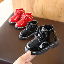 Baby Children keep Warm Martin leather Sneaker Boots Boys Girls Snow autumn winter casual boots kids non-slip(China)