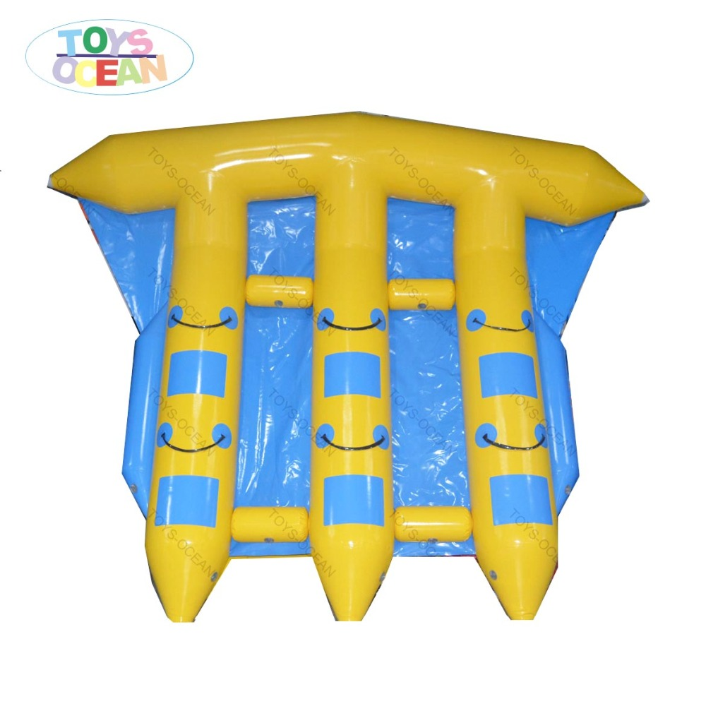 6 Person Inflatable Flying Fish Water Boat Flying Boat With 0.9mm Pvc Tarpaulin